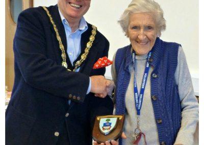 Trish & Mayor - award given 24th March 2018