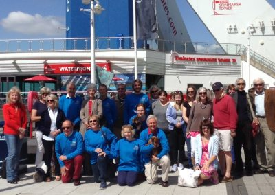 Magnificent 7 Team and supporters ready for the Spinnaker Tower Abseil 2018