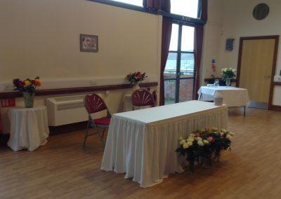 The Gates Hall- wedding ceremony set up