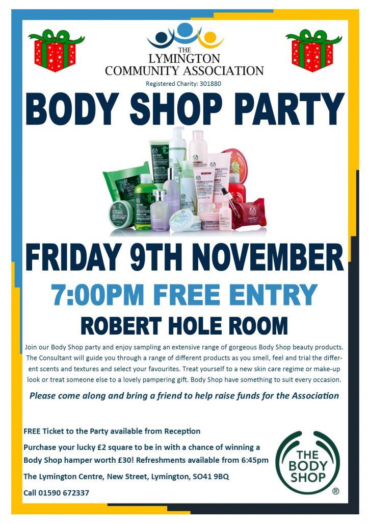 Body Shop Party @ Robert Hole Room | England | United Kingdom