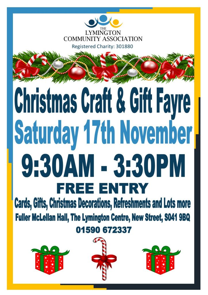 Christmas Craft and Gift Fayre @ Fuller McLellan Hall, The Lymington Centre | England | United Kingdom