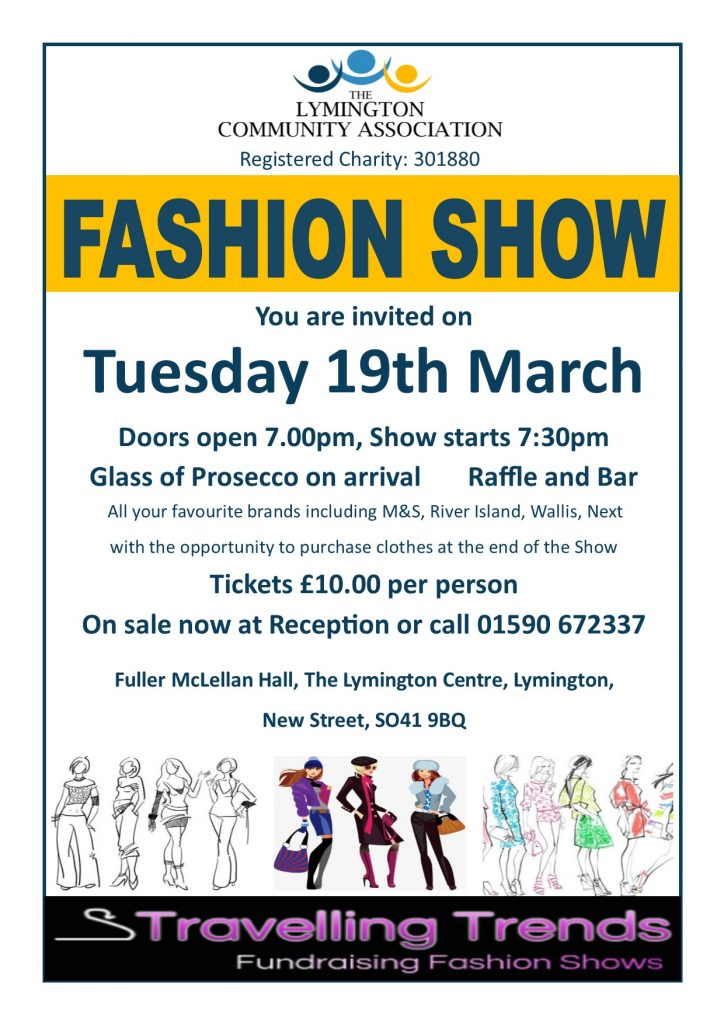 Travelling Trends Fashion Show - Tues 19th March @ Fuller McLellan Hall, The Lymington Centre   England   United Kingdom