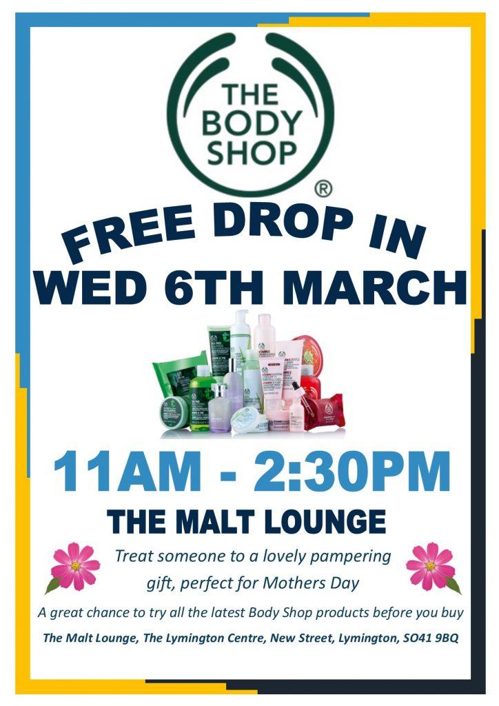 Body Shop Drop In @ The Malt Lounge, The Lymington Centre   England   United Kingdom