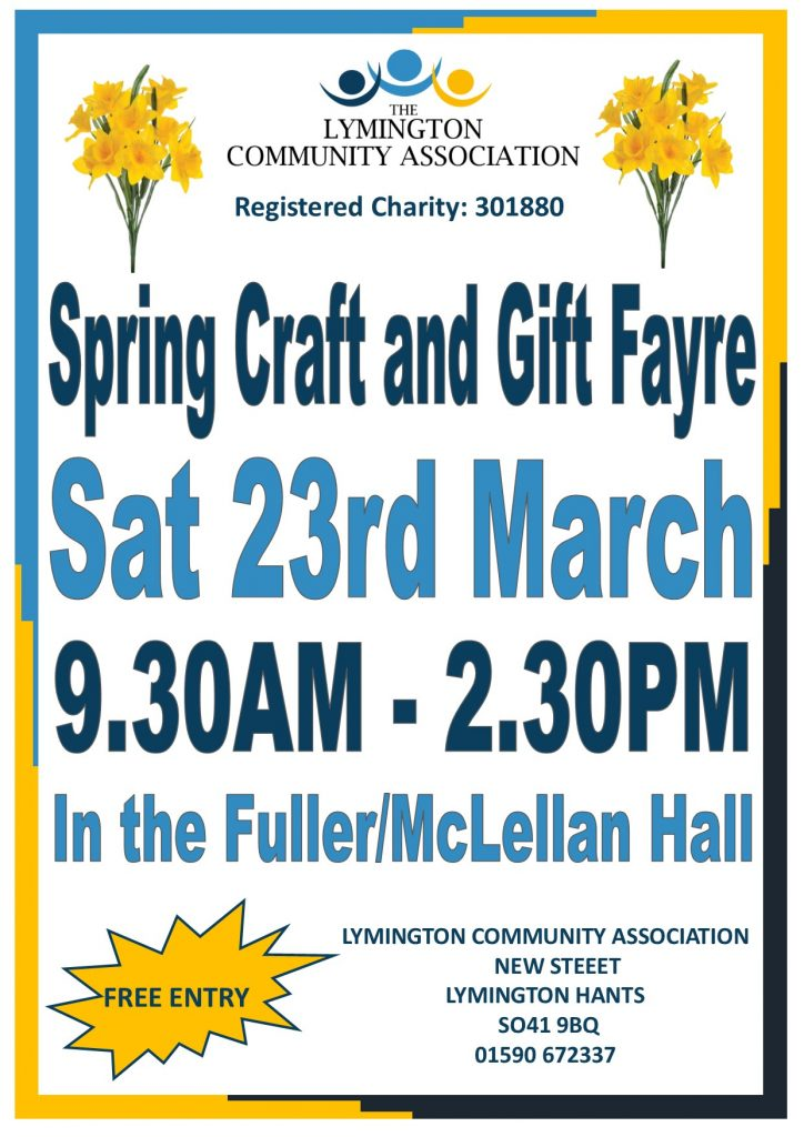 Spring Craft and Gift Fayre @ Fuller McLellan Hall, The Lymington Centre   England   United Kingdom