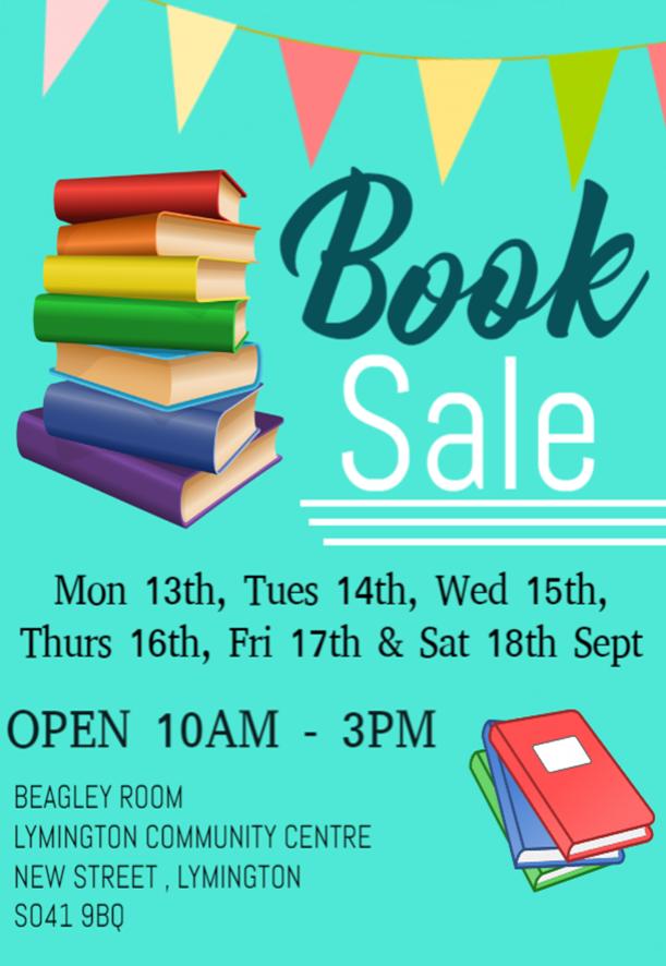 Book Sale @ Beagley Room, Lymington Community Centre   England   United Kingdom